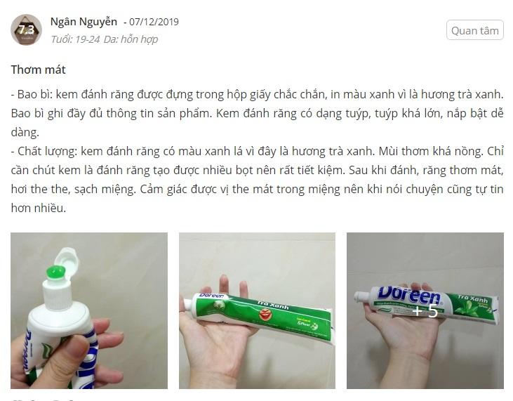 kem đánh răng doreen, giá kem đánh răng doreen, công ty kem đánh răng doreen, cách làm slime bằng kem đánh răng doreen