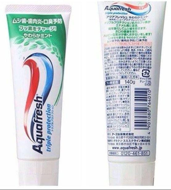 Review kem đánh răng Aquafresh Nhật